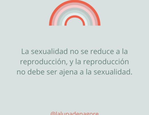 La sexualidad no se reduce a la reproduccion